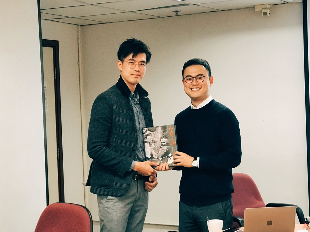 Photo after the seminar, with Dr. Eric Sze at GEO.