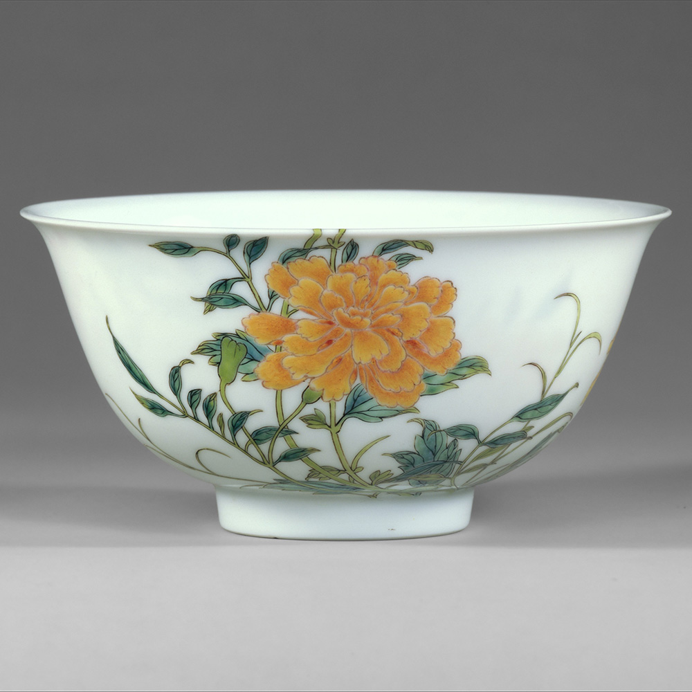 image from The Met, Porcelain bowl, Qing dynasty (1644–1911),