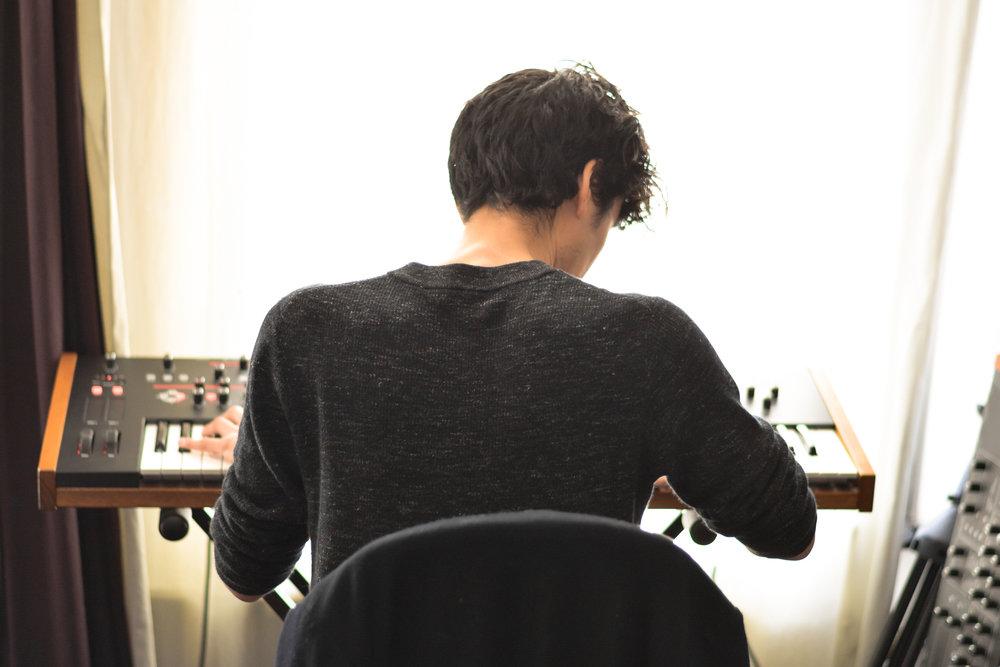 creating the new album -