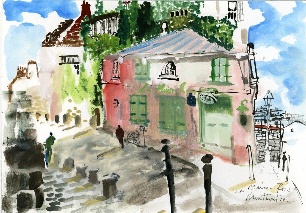 La Maison Rose, Montmartre-Paris