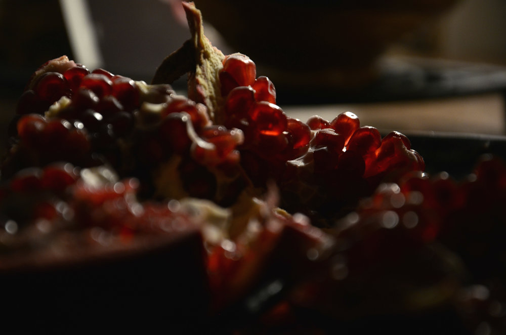 Pomegranate Seeds in Light