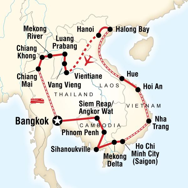 G AdventuresIndochina Discovery - 30 daysBangkok to BangkokFrom £1631