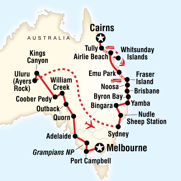 G Adventures Complete Australia - 28 daysMelbourne to CairnsFrom £3499
