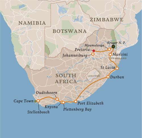 South African Explorer - 16 NightsGuaranteed DeparturesAges: 16+Maximum: 14 GuestsAverage: 8 Guests
