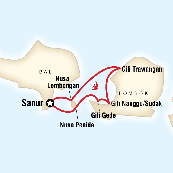 Sailing Indonesia - Bali & Lombok - 7 DaysSnorkel at Nusa Penida, Sail to the three most famous Gilis - Air; Meno & Trawangan, Explore the lesser known Gilis - Sudak; Nanggu & Gede, Spot sea turtles
