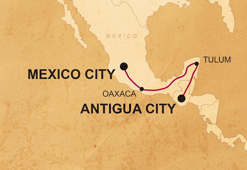 Overland Mexico - Run by DragomanTransport: US style school bus /BoatAccommodation: 30% Camping / 70% Hotels