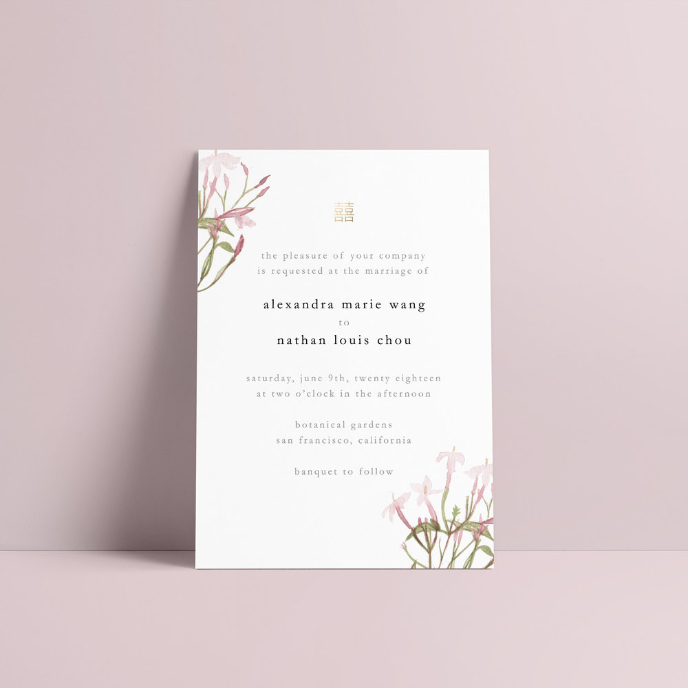 Double Happiness Pink Jasmine - https://www.minted.com/design-rating/902219