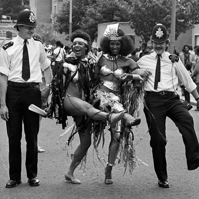 We are still remembering the carnival vibes and the amazing #AyoLaunch weekend! Take a look at this #FlashbackFriday from 1982. Everyone gets into the festival sprit even the police constables too 💃