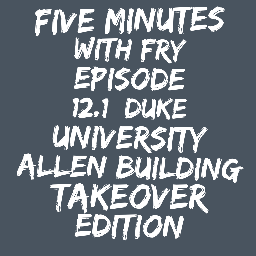 Five Minutes with Fry (Ep 12 1): Special Guest- First Black