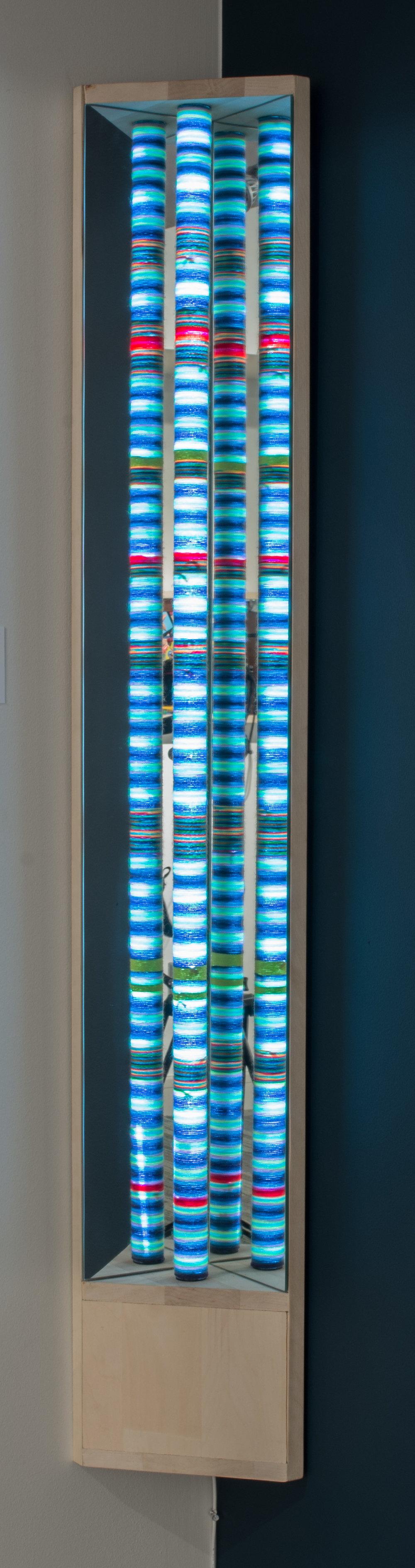 Hallie Beams: Cool Corner - Mixed Media55″ x 7″ x 10.5