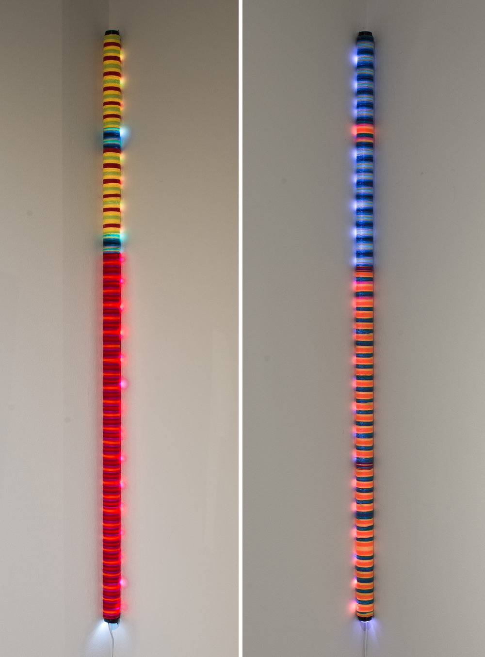 Hallie Beams: Petite Baton (4ft) - Mixed Media2014Other colors are available!**Available for purchaseExhibited at:Gallery 701 at the Long Center, January – October, 2016 (Austin, Texas)Art for the People, May – June, 2015 (Austin, Texas)In a relationship, we have many beams of light which are the positive aspects of the relationship.This helps the relationship stay fresh, and is why you keep coming back for more.
