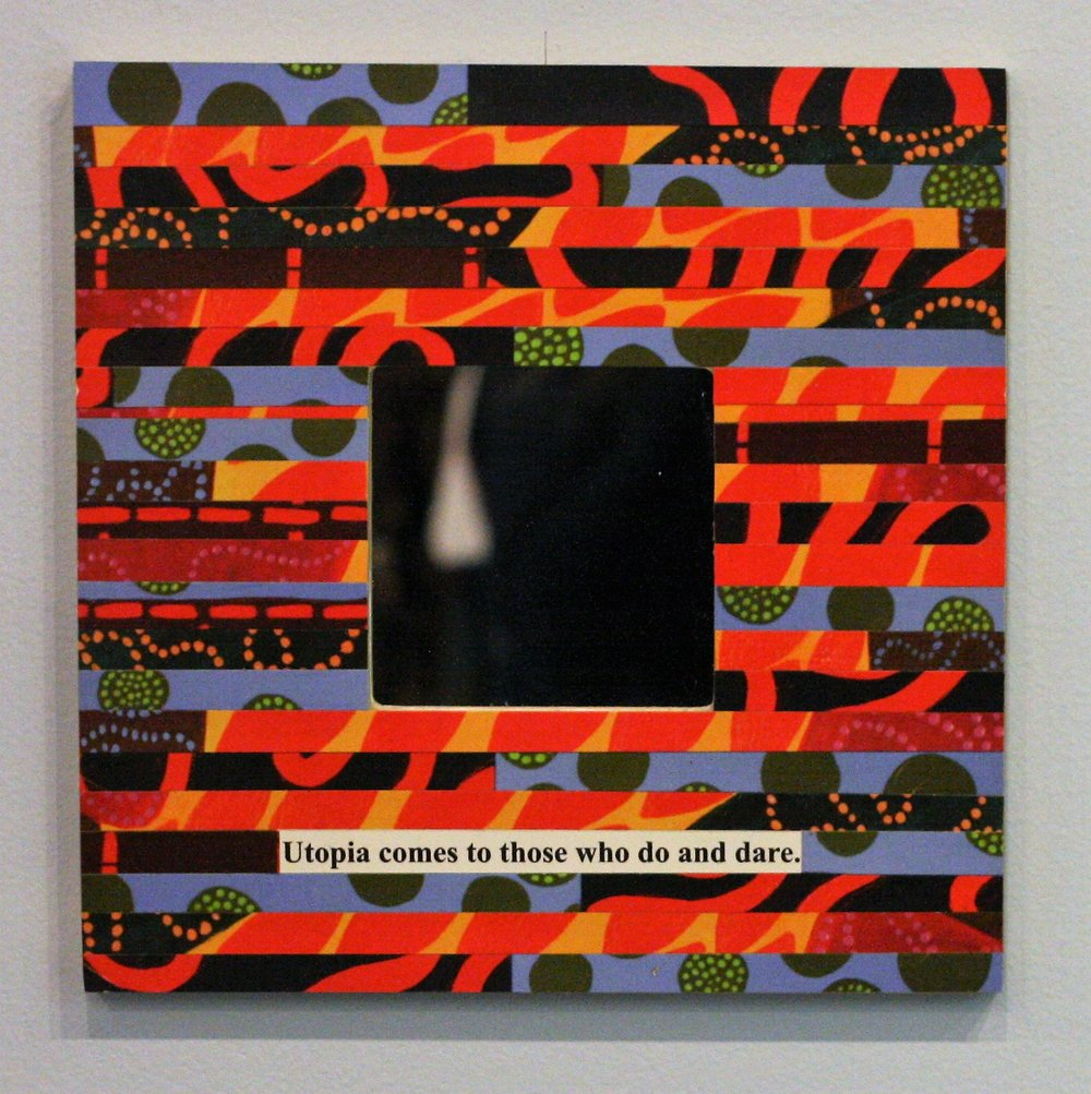 I am Utopia - Paper Collage &Mirror10