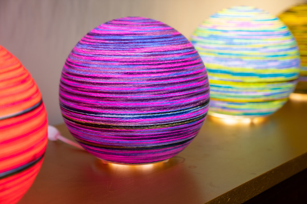 Hallie Rae Ward - Positive Glow Globes - East Austin studio Tour - Austin Artist - Austin Art - contemporary art