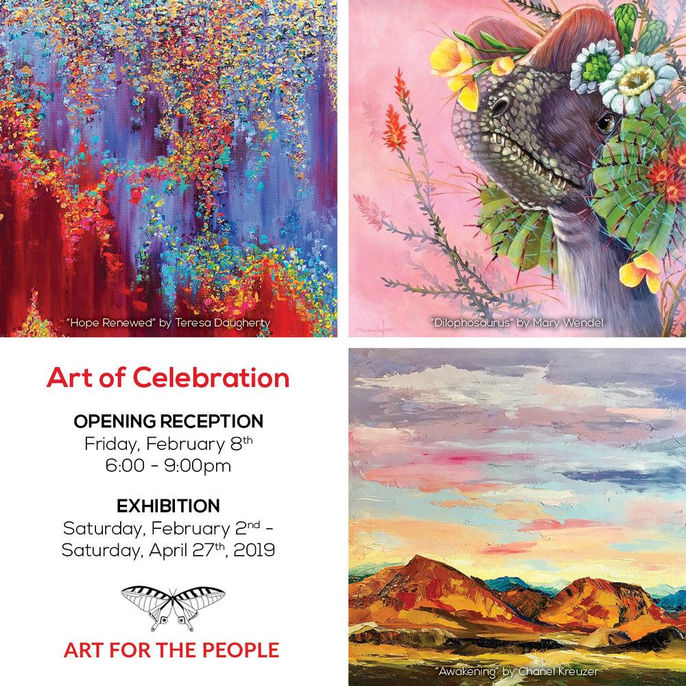 art of celebration - Hallie Rae ward - Austin art - art for the people - Austin artist - contemporary art