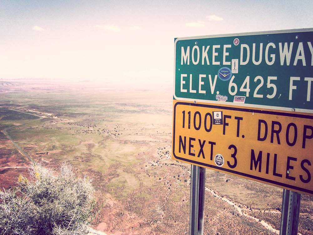 The Mokee Dugway near Mexican Hat, Utah.