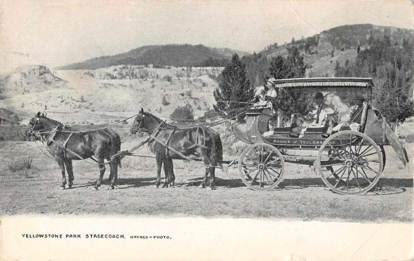 Monida & Yellowstone Stage Co. stagecoach, circa 1910