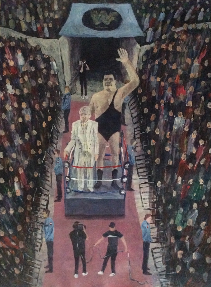 Andre The Giant  - Painting by Scottish artist Craig Harper of Andre The Giant at Wrestlemania 3.