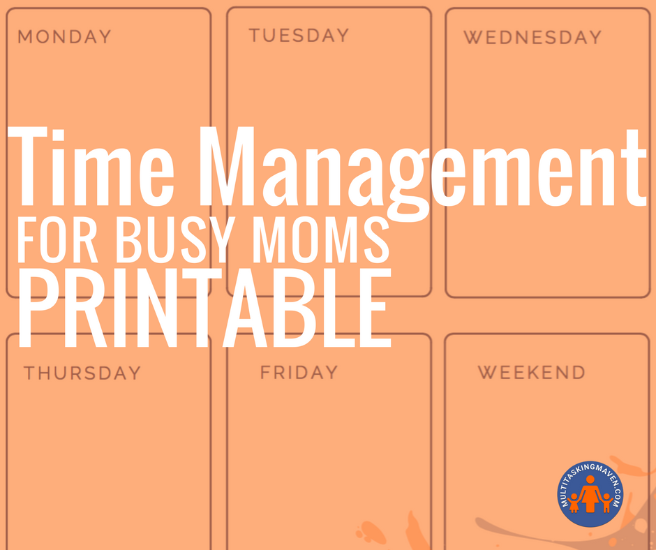 Time management for busy moms is a step by step plan to focus on one thing at a time to help get things done for work and home.  Get your printable worksheets and Trello tutorial and board templates here http://multitaskingmaven.com/blog/time-management.com