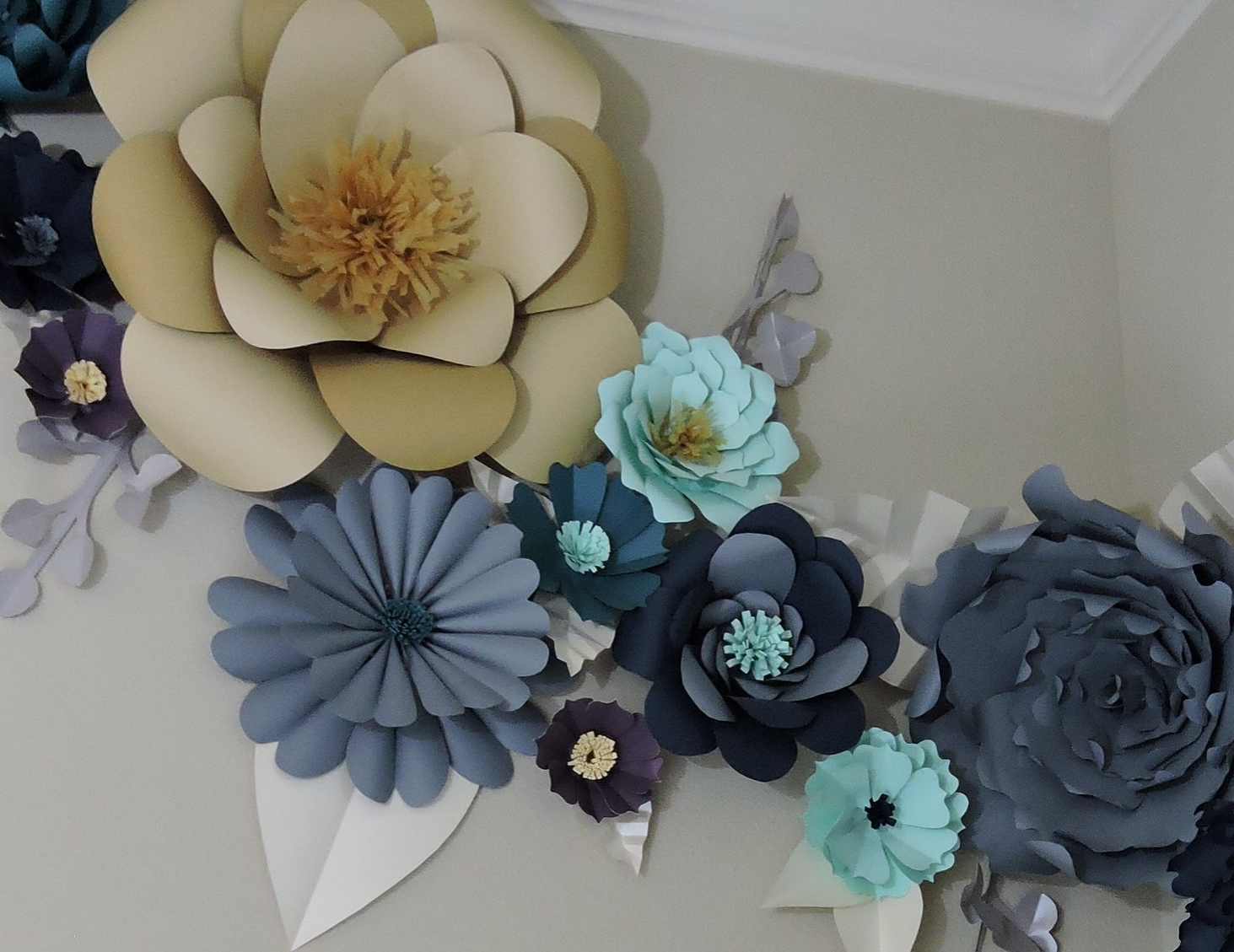 Diy giant paper flowers tutorial blue fox crafts giant paper flowers the start of something beautiful mightylinksfo