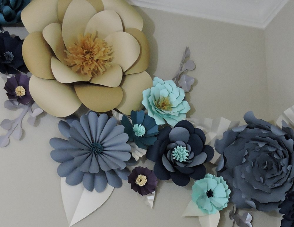 Giant paper flowers the start of something beautiful blue fox crafts mightylinksfo