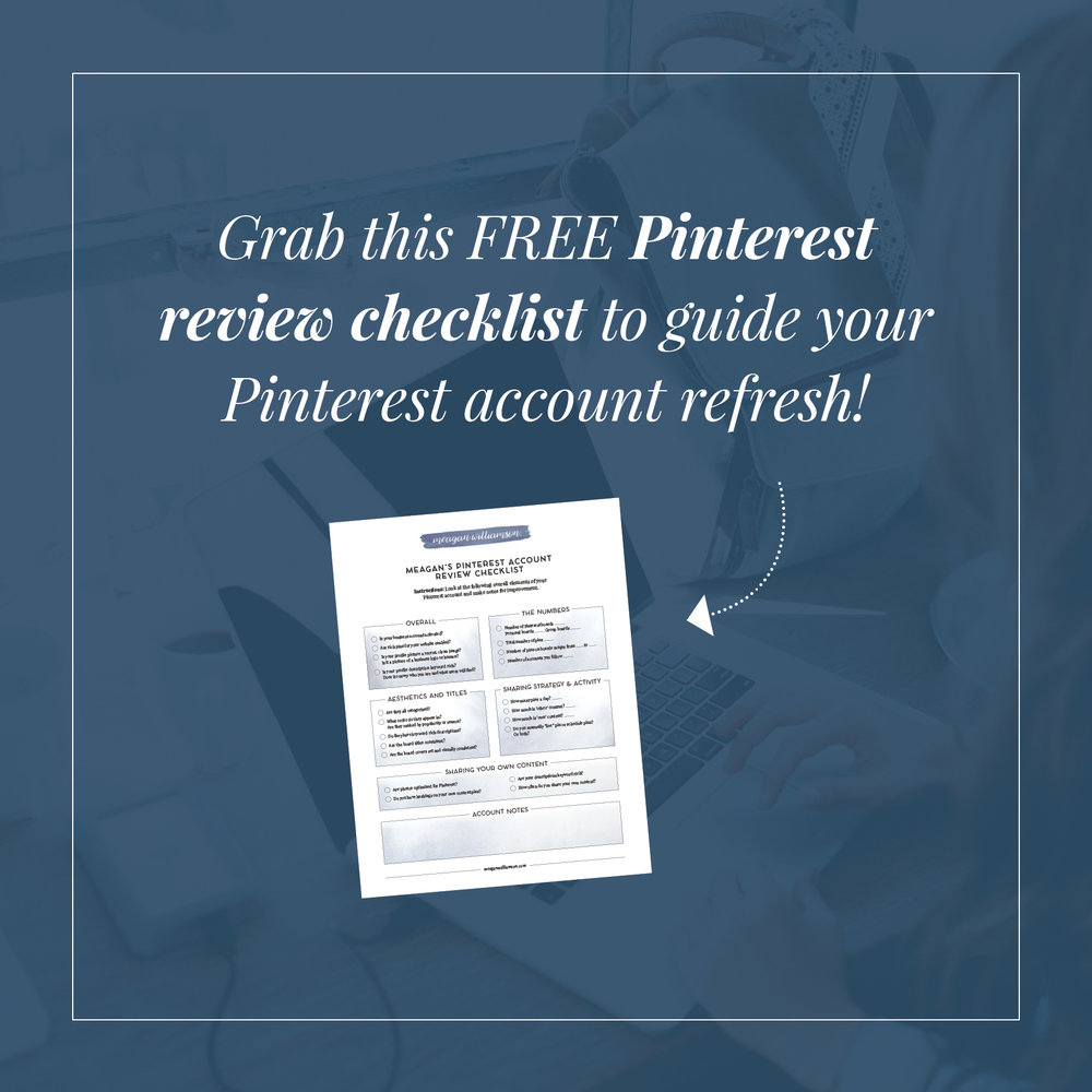 Pinterest REVIEW CHECKLIST FROM MEAGAN