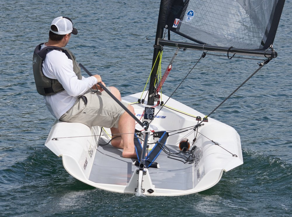 Todd testing an Atlas on his Melges 14