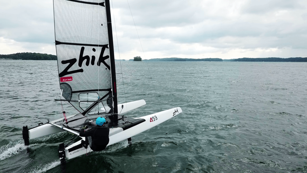 Testing the Atlas on a foiling A-cat — Vakaros