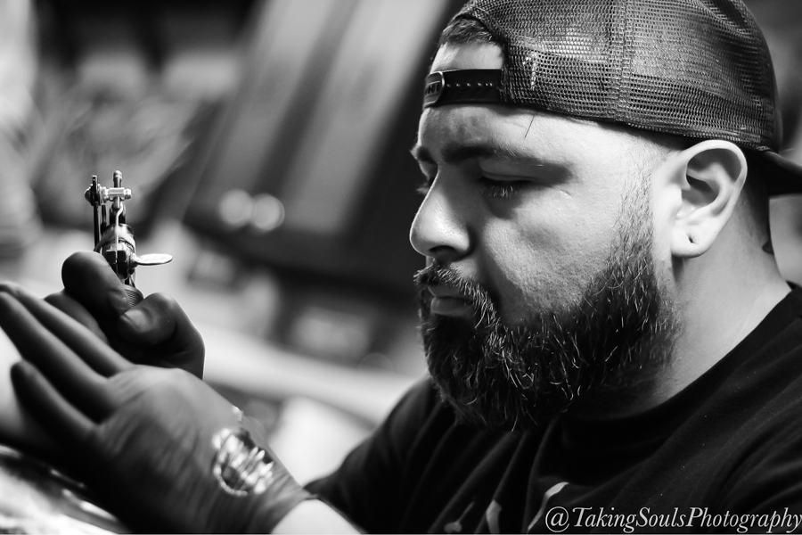 Josh Echeverria - Josh was born and raised in southern California and have been a resident of Las Vegas for 23 years. He's been a resident artist at Heritage Tattoo since January 2017—this is his second home. When he's not at the shop, he tries to stay creative by drawing and painting, adding to his practice of tattooing. He loves being outdoors, doing jiu-jitsu, and spending time with his dog.