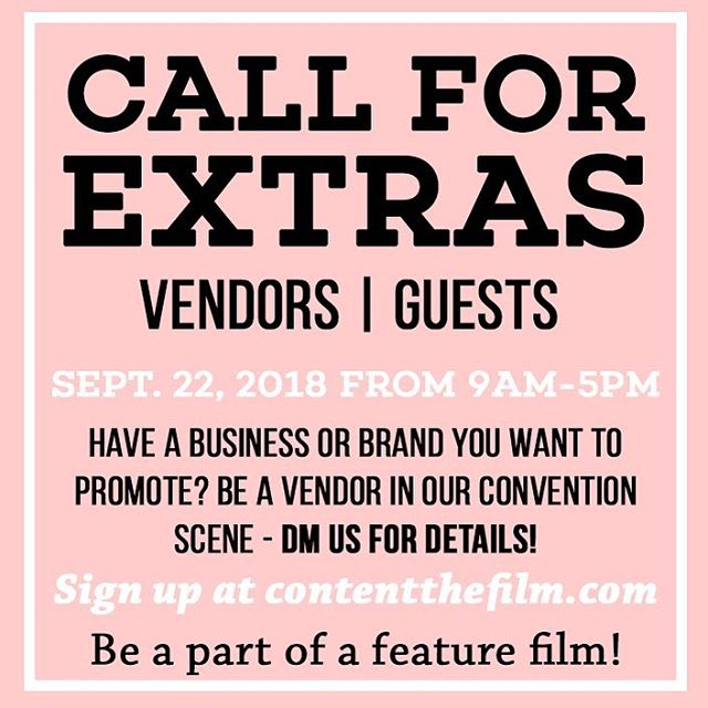 ATLANTA! This is possibly the largest scale indie film shoot of this budget and size - Sept 22nd at the Atlanta Expo Center. Dress up, mingle, hang out. If you sign up at contentthefilm.com you're entered to win a $50 Racetrack or a $25 Target card! Be a part of CONTENT🤩💪🙏😬🤳🏻 . . . #atlantaevents #atlantageorgia #indiefilmmaker #kickstarter #atlantaeats #atlevents #indiegogo #videoproducer #atlblogger #atlsmallbusiness #indiefilmmakers #graphicdesigner #atlvendors #atlantasmallbusiness #atlfilm #atlantafilm #atlcosplayer #actorslife🎬 #actorswanted #atlantacosplayers #atlanta #castingcall #georgiafilm #georgiafilmindustry #georgiamade
