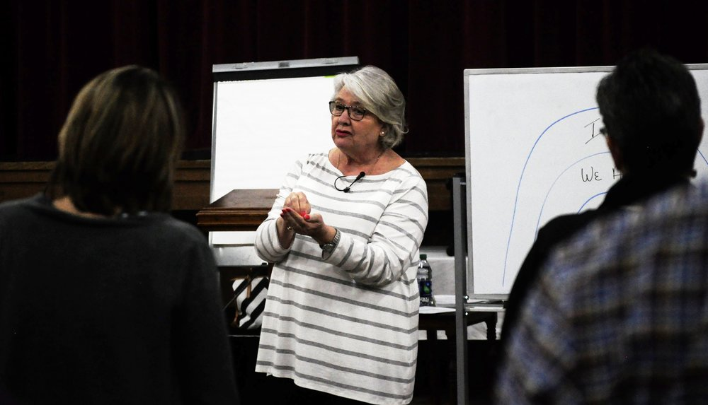 Suzanne teaching in Little Rock, AR