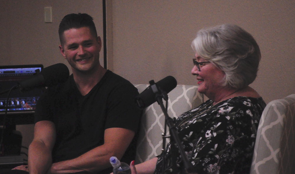 Luke and Suzanne speaking to a group in Austin, TX