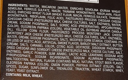 Processed food - with a very long list of 'ingredients'!