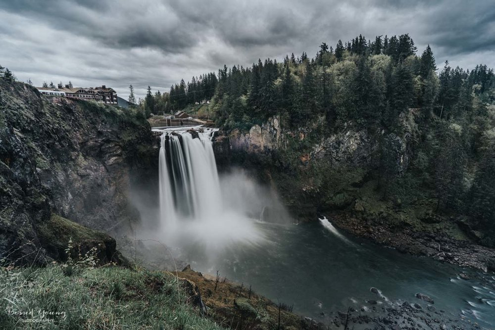 Snoqualmie Falls Washington by Bessie Young 1.jpg