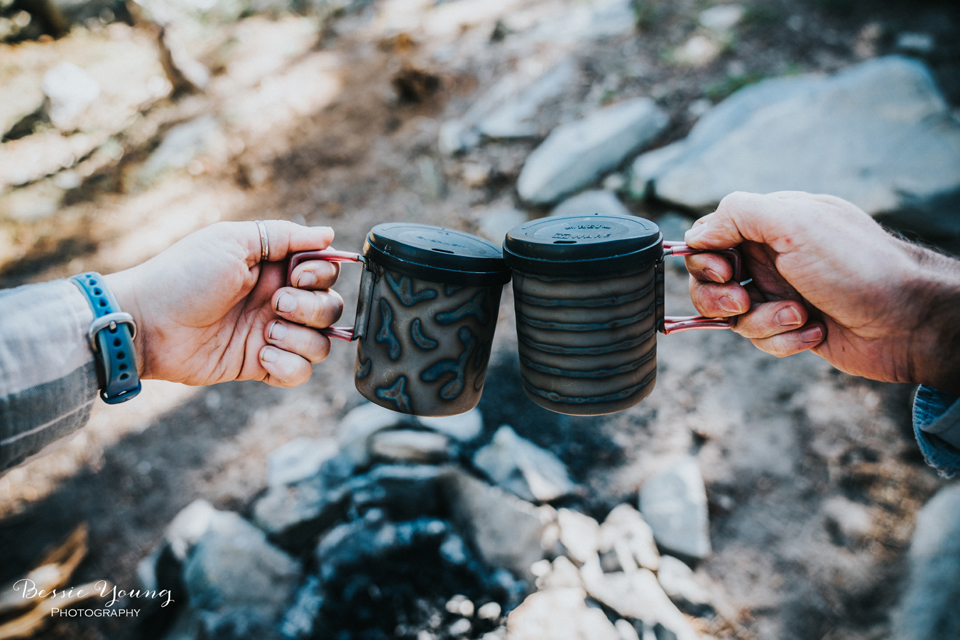 Ansel Adams Wilderness Backpacking photographed by Bessie Young. There is seriously nothing better than waking up to a big ole cup of coffee when you are out backpacking. Check out the adventure.
