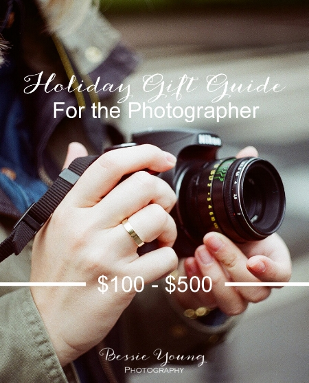 Holiday gift guide for the photographer by Bessie Young Photograpy Gifts for a photographer