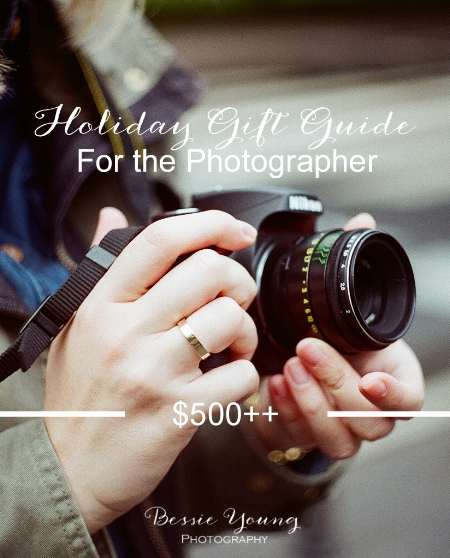 Holiday gift guide for the photographer 500+ by Bessie Young Photograpy Gifts for a photographer