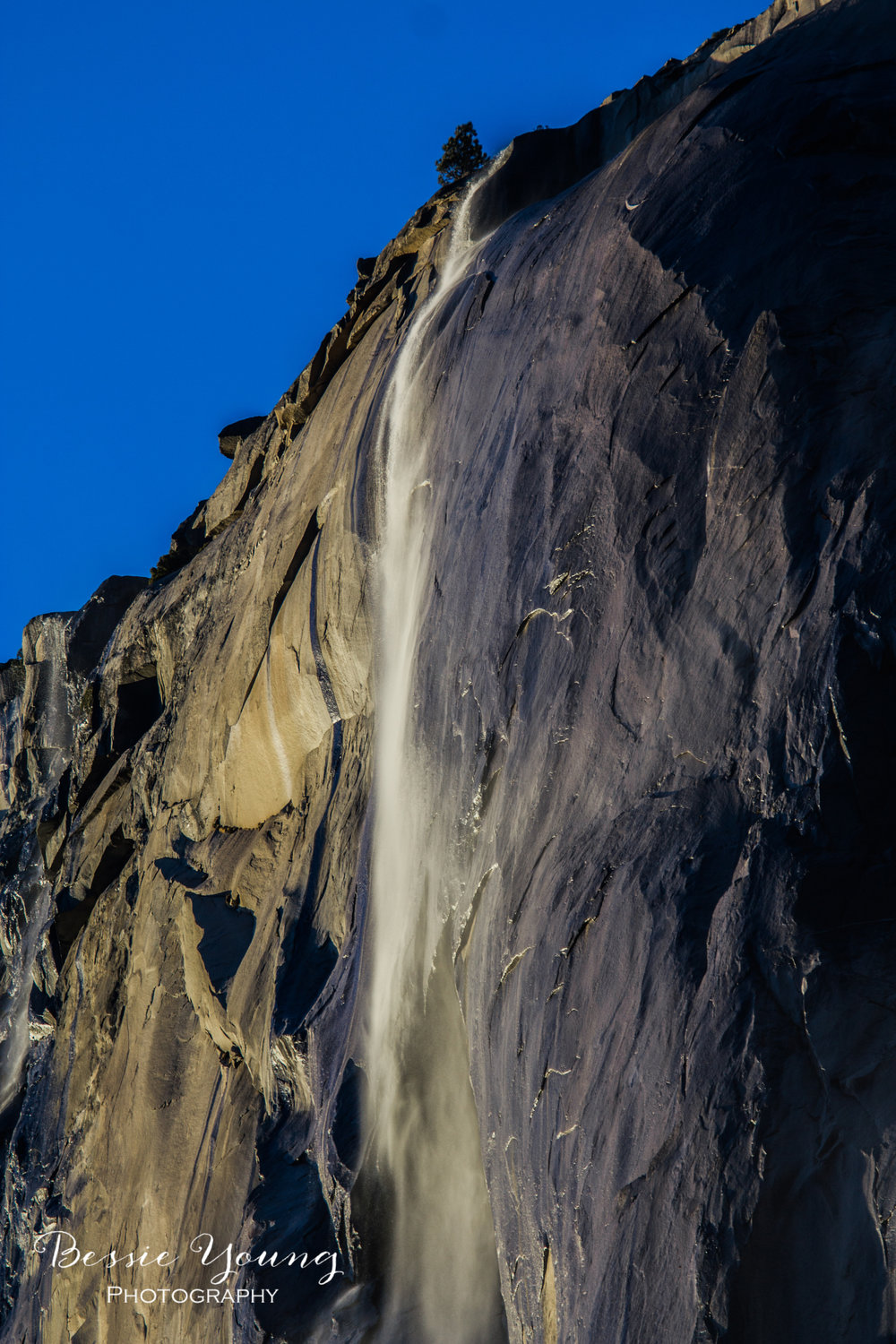 Yosemite Firefalls - El Capitan Horsetail Falls by Bessie Young Photography