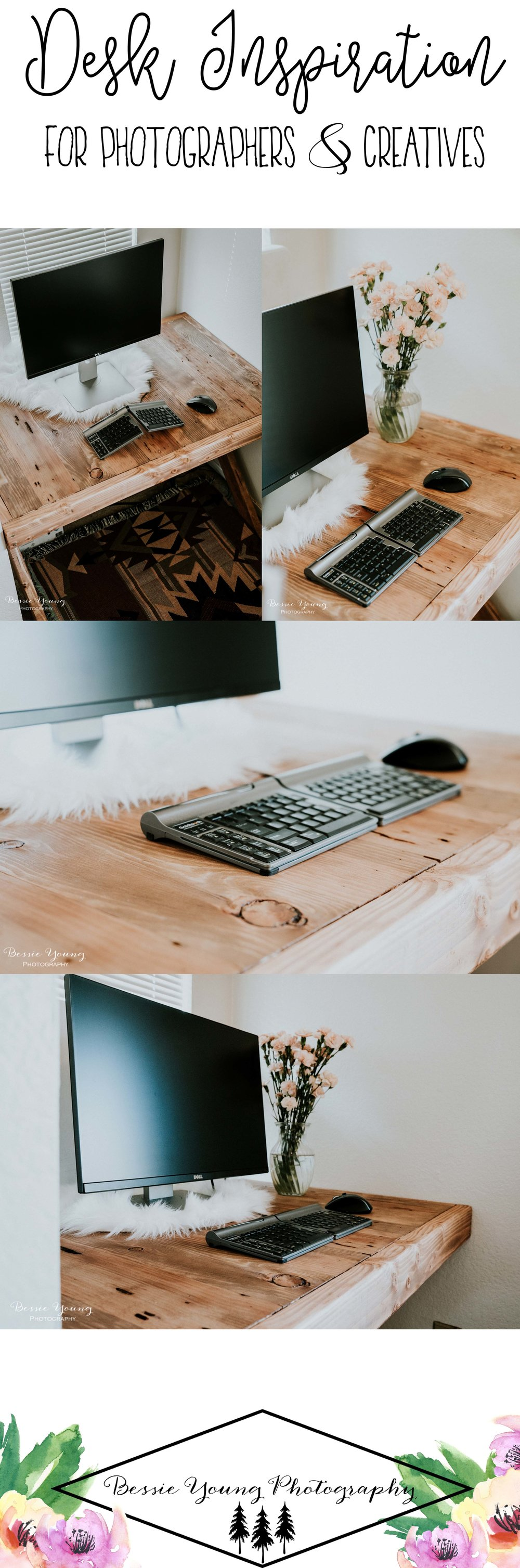 Desk Inspiration for Photographers and Creatives by Bessie Young Photography - Photography Work Space