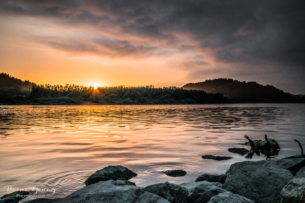 Klamath River Sunset Landscape Photography by Bessie Young Photography - Klamath California Sunset