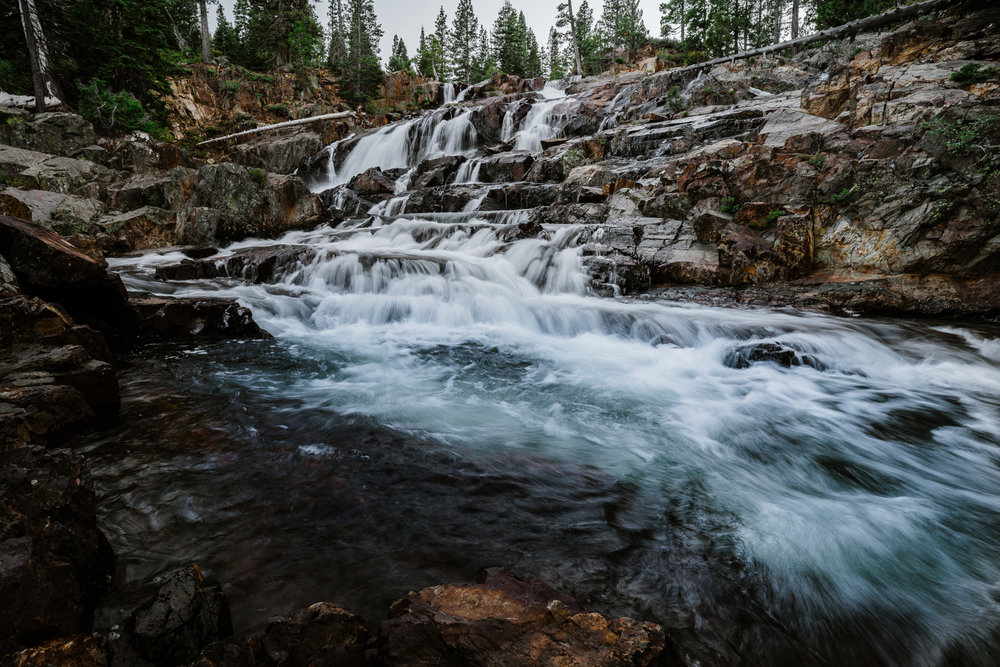 How to Photograph Waterfalls - Glenn Alpine Waterfall South Lake Tahoe -Landscape Photography by Bessie Young Photography