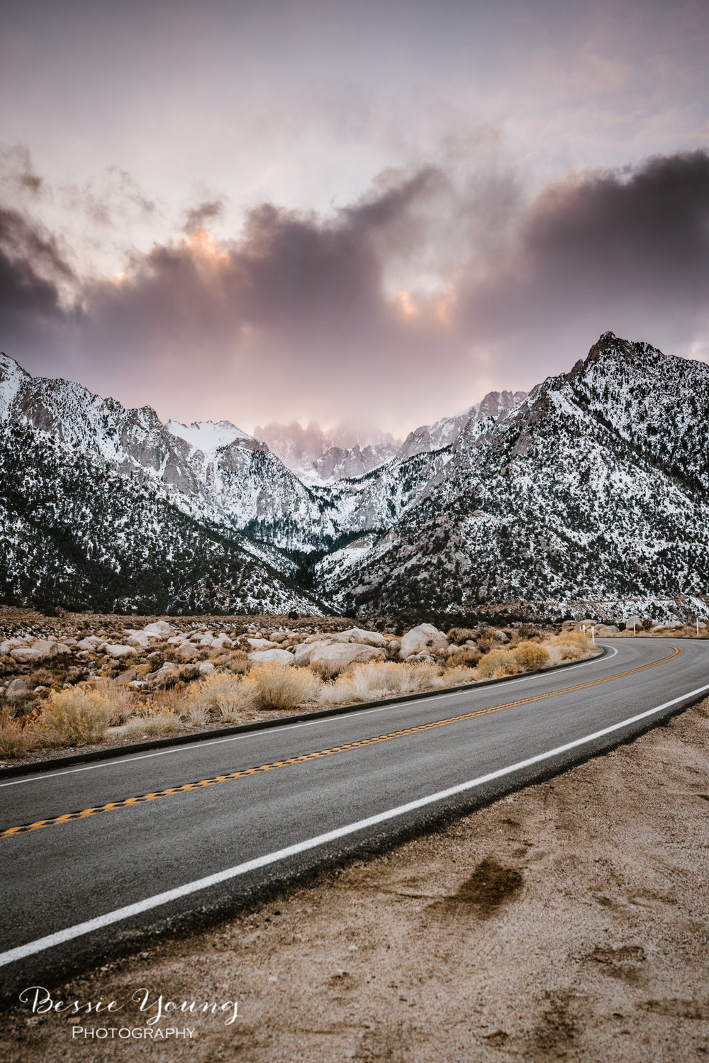 Alabama Hills California Sunset - Fine Art Photography by Bessie Young Photography
