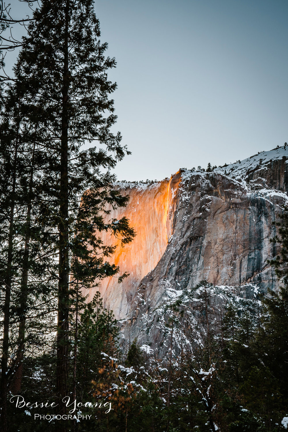 Yosemite National Park Firefall 2019 - Horsetail Fall - Landscape Photography by Bessie Young Photography - Yosemite National Park Photography