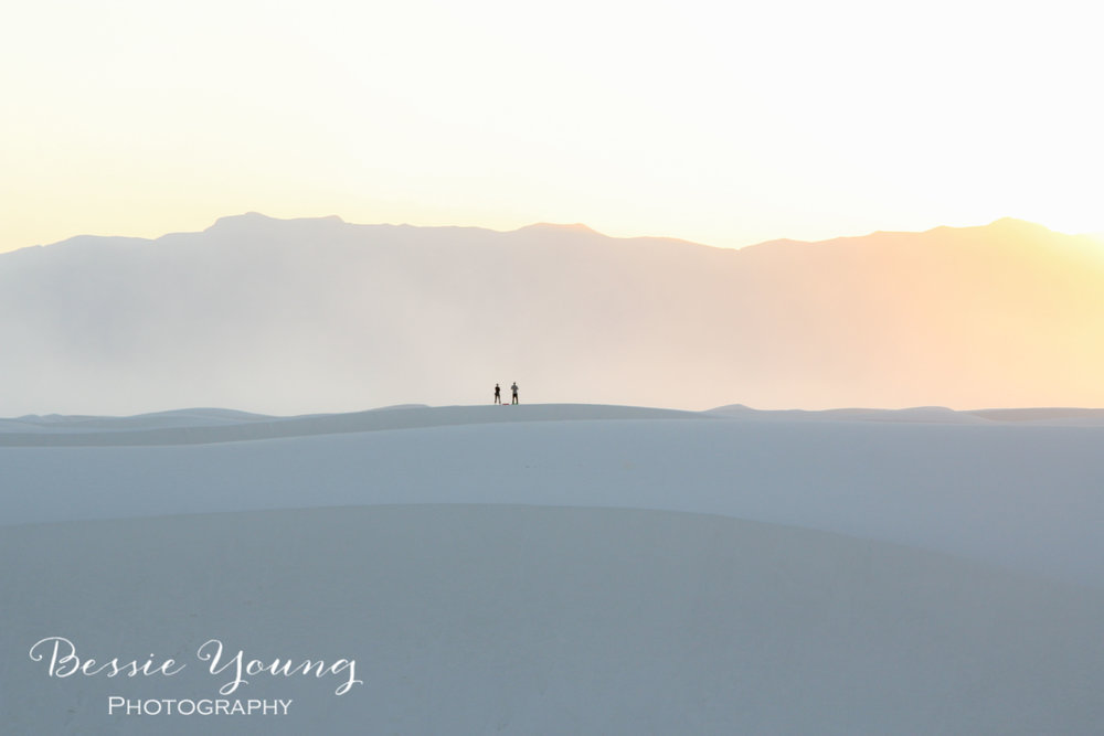 White Sands New Mexico Fine Art Print - Travellers by Bessie Young Photography.jpg