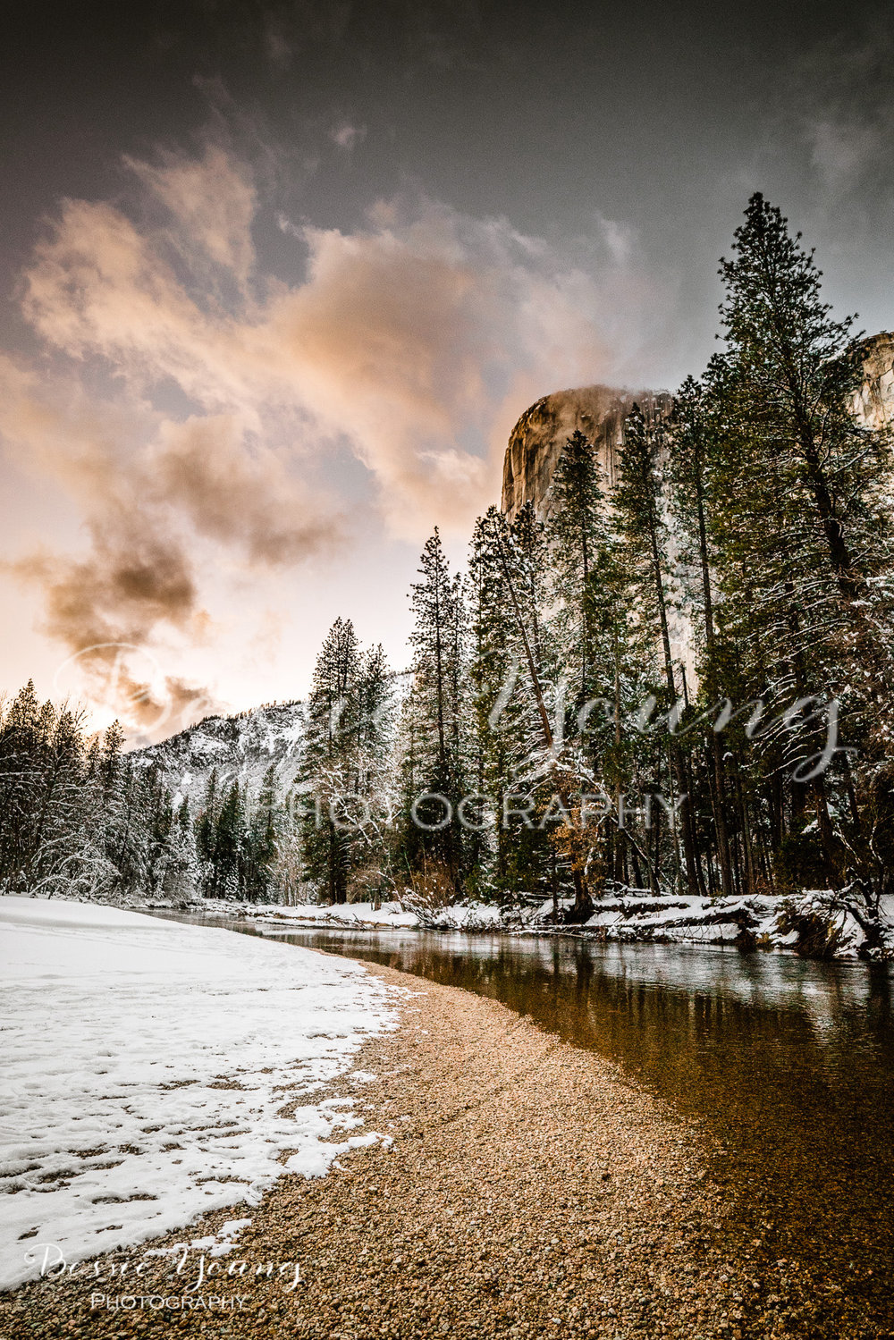 Yosemite National Park Photography One of a Kind By Bessie Young Photography - Yosemite in the Winter One of a Kind Photograph.jpg
