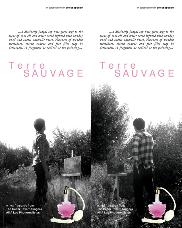 Promo posters for Terre SAUVAGE.