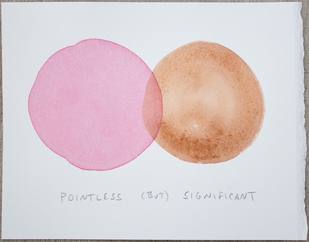 Untitled (Pointless ...), watercolor and graphite on Somerset, 6.25 x 8 in., 2017