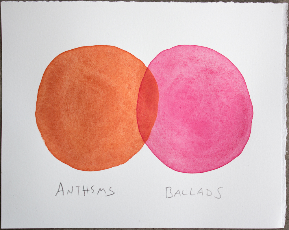 Untitled (Anthems ...) , watercolor and graphite on Somerset, 6.25 x 8 in., 2017
