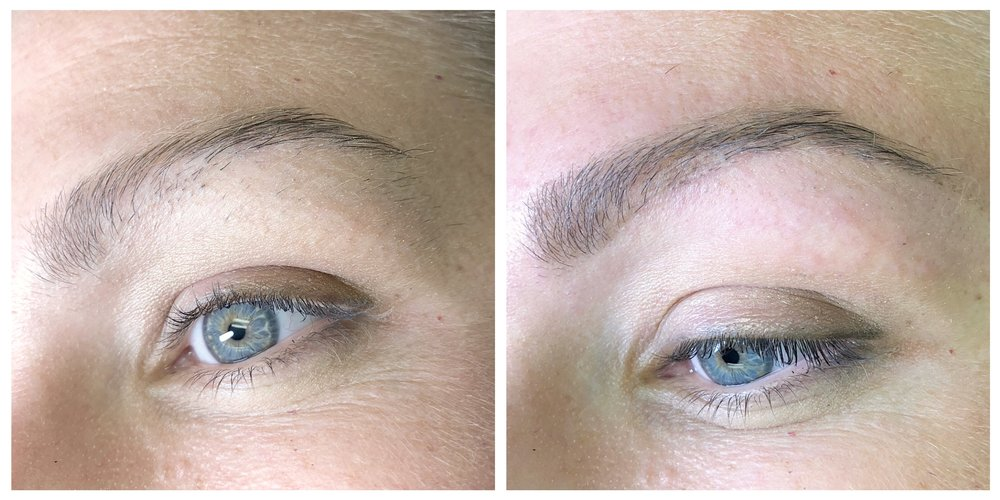 brow design and light pencil definition