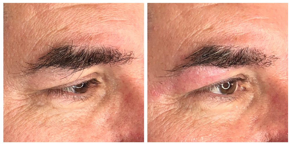 men's brow design