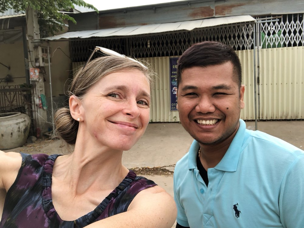 Kirsten has hired a translator to accompany her as she connects with people from the old generation. She is working on a project, photographing and recording life stories and lessons of the oldest generation of Cambodian people, age 65 and older. Her translator, Matthew, has been a friend of ours for quite a few years. We are blessed to have his help in this work.